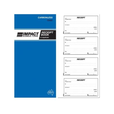 Receipt Book Impact Business Forms