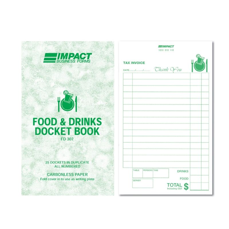 Restaurant Docket Book