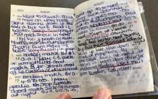 Rhyton Girls School Diary Entry 1970