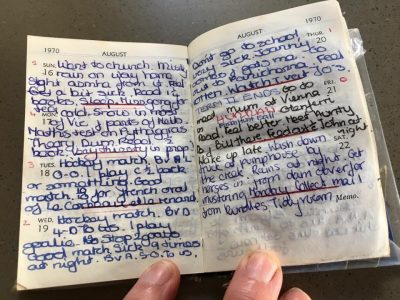 Rhyton Girls School Diary Entry 1970