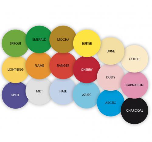 Cobek Construction Paper 18 colour pack