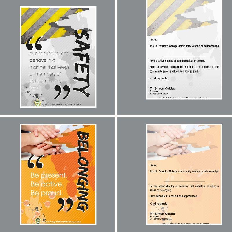 Custom postcards for schools