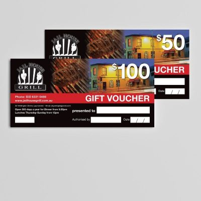 Business Marketing Printed Vouchers