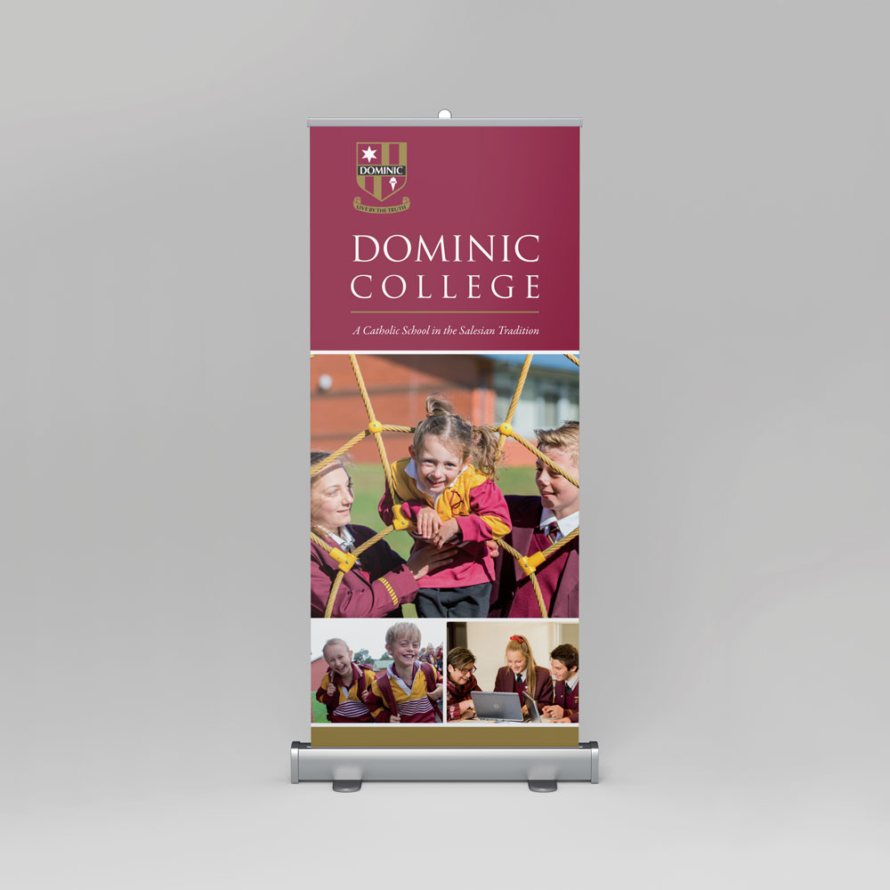 Dominic College Pull Up Banner