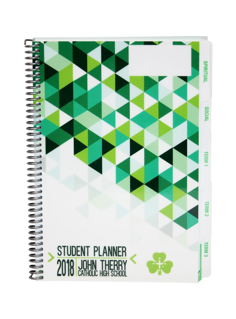 Student Planner with tabs John Therry Catholic High School