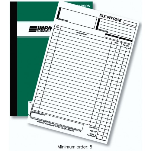 Pen Carbon Tax Invoice Book Single Money Column in Duplicate PC180