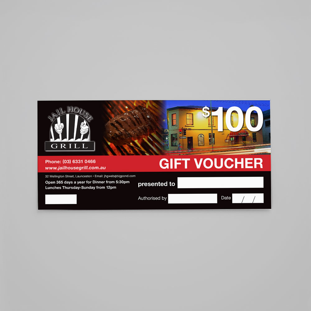 Commercial Printing Gift Voucher