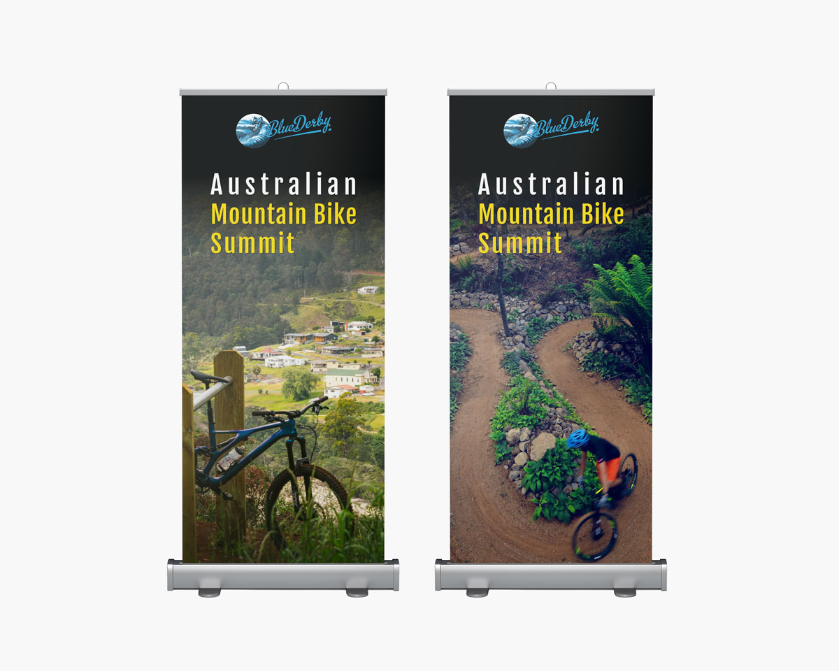 Blue Derby Pull Up Banners