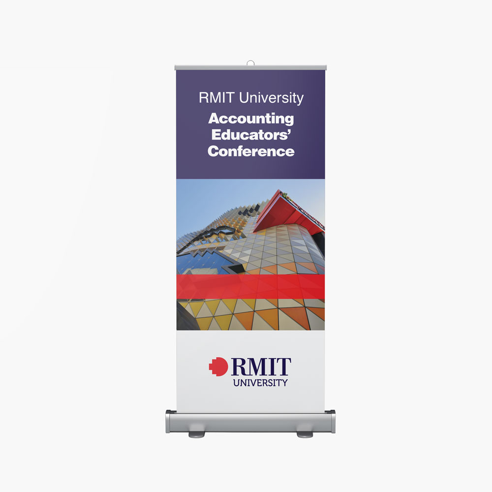 RMIT Pull Up Banner