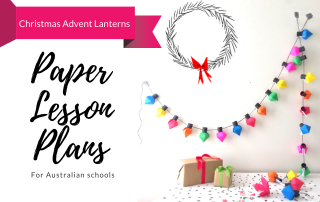 Paper Lesson Plans Christmas Advent Lanterns