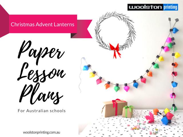 Paper Lesson Plans Christmas Advent Lanterns
