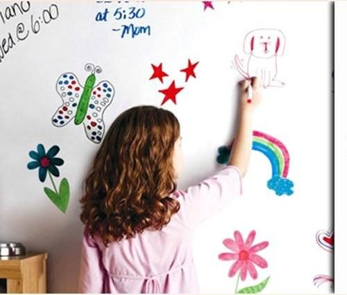 Whiteboard Wall Stickers with child drawing on it