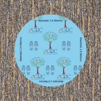 Coronavirus Signage for Schools Patterned Floor Decal