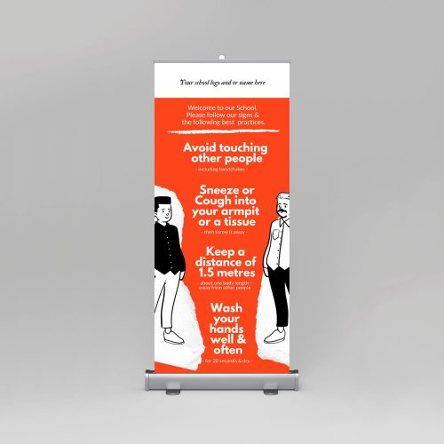 Covid Pull Up Banner for Schools