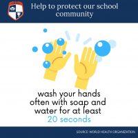Covid Hand Washing School Wall or Window Stickers