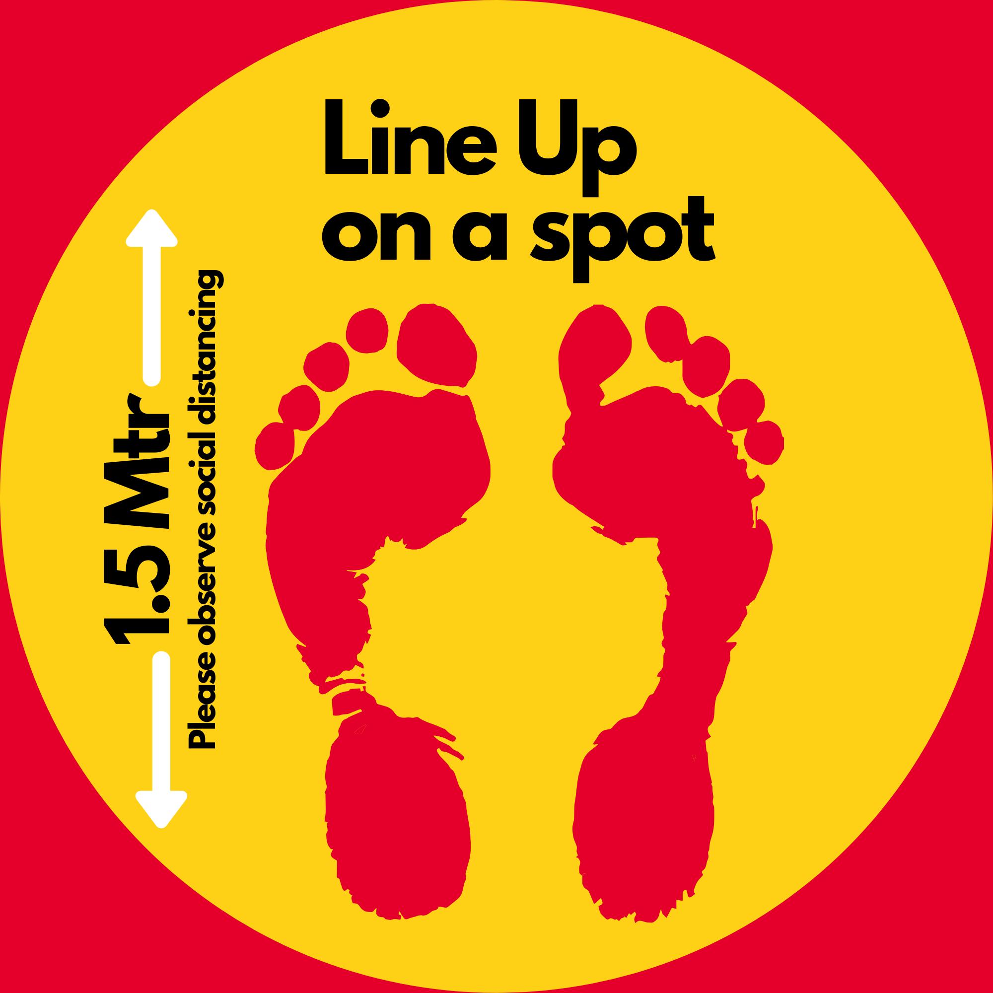 Generic Covid Floor Stickers Yellow