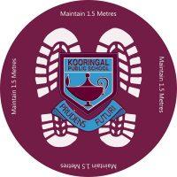 Coronavirus Signage for Schools Floor Decal Sticker