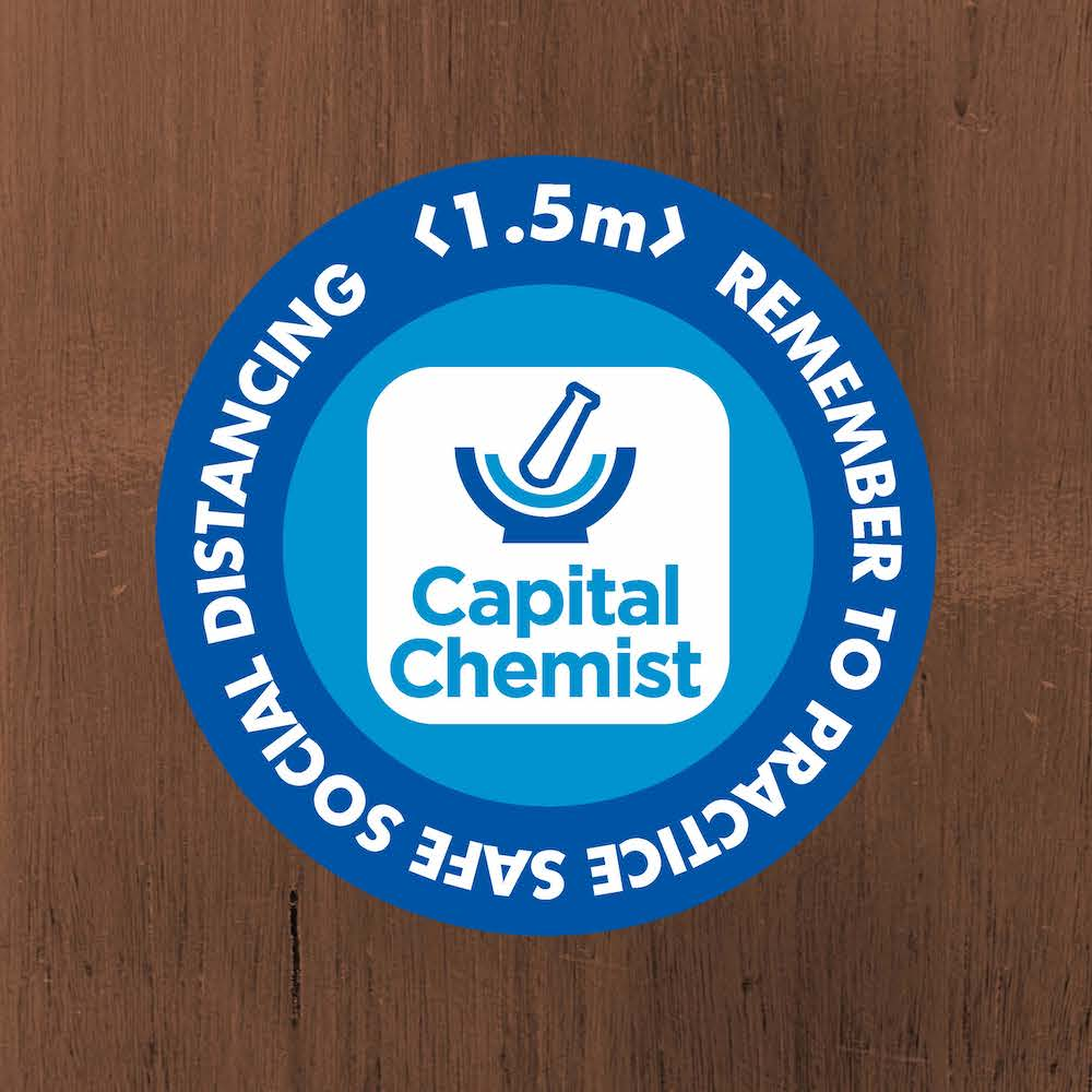Floor Decal Stickers for Social Distancing Custom Capital Chemist