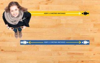 Long Floor Strips for Social Distancing