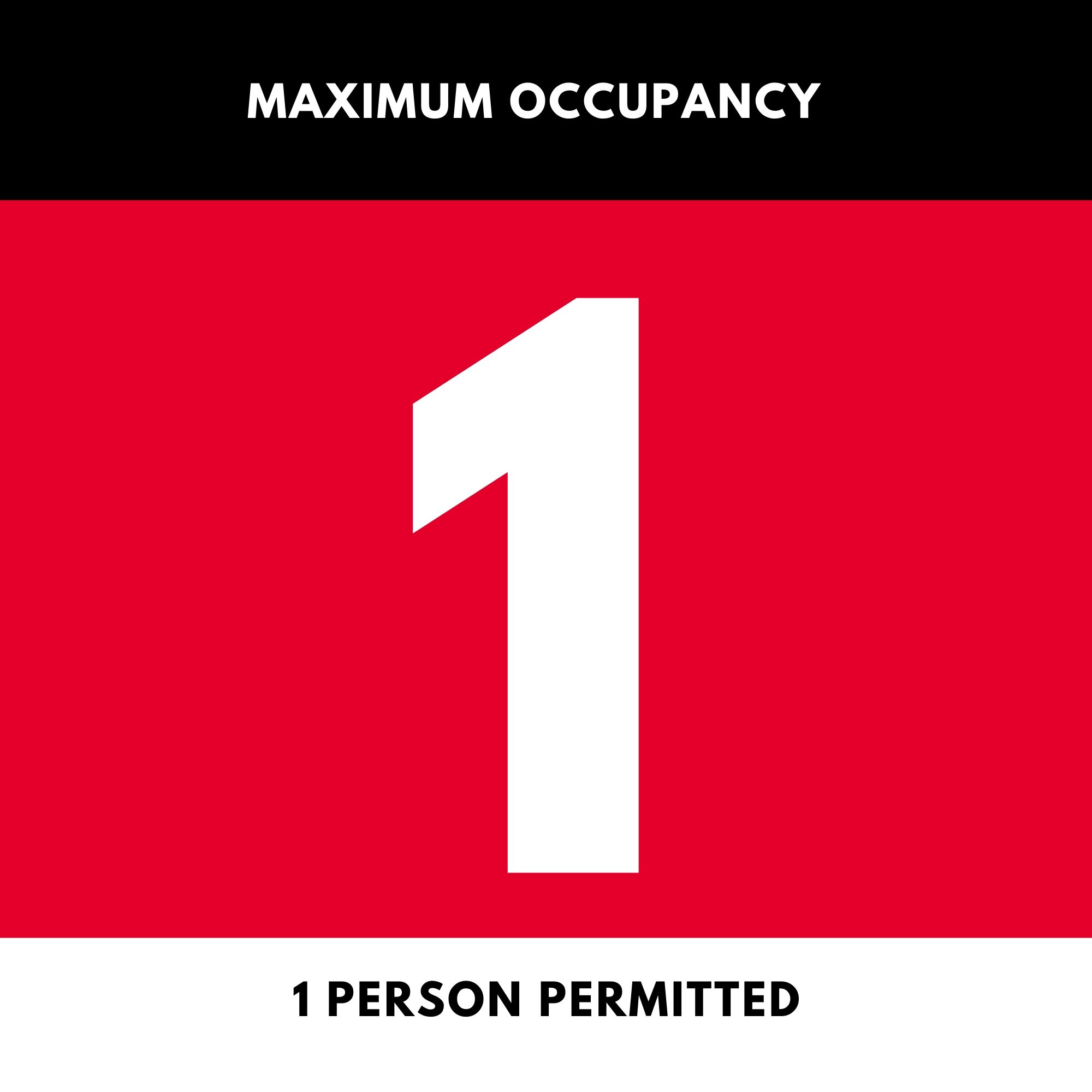 Maximum Room Occupancy Signs - Removable Sticker