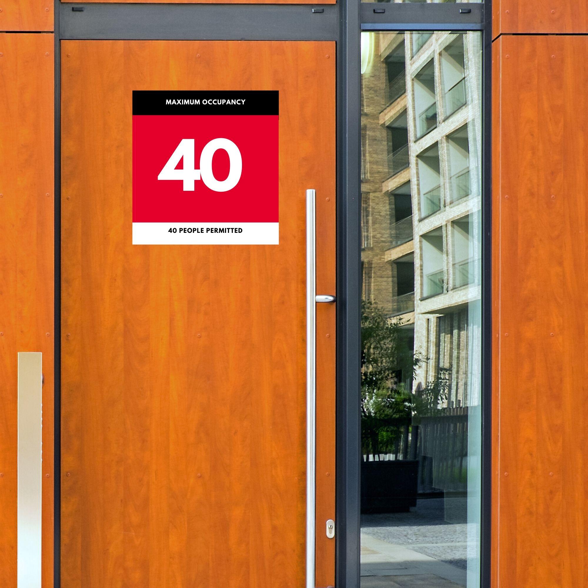 Maximum Occupancy Room Sign 40