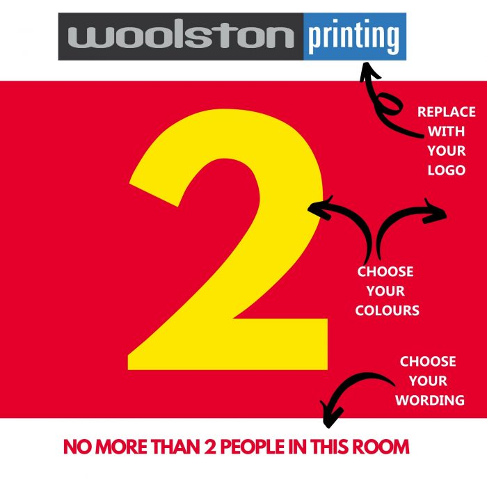 Covid Room Capacity Signs & Stickers for Social Distancing Custom