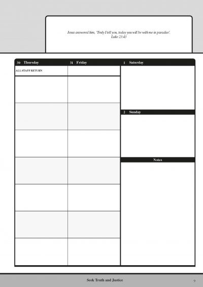 Custom Teacher Planners Insert