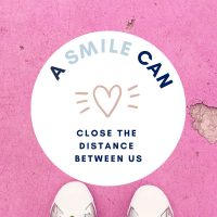 Covid Floor Stickers with Positive Message