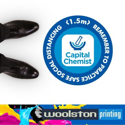 Floor Decal for Social Distancing Capital Chemist