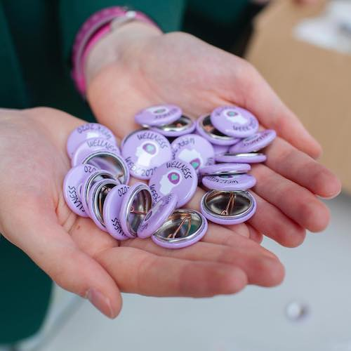 St Patricks Button Badges