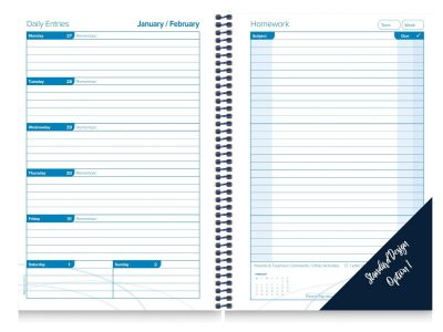 Student Diary Generic Calendar Insert week to a page