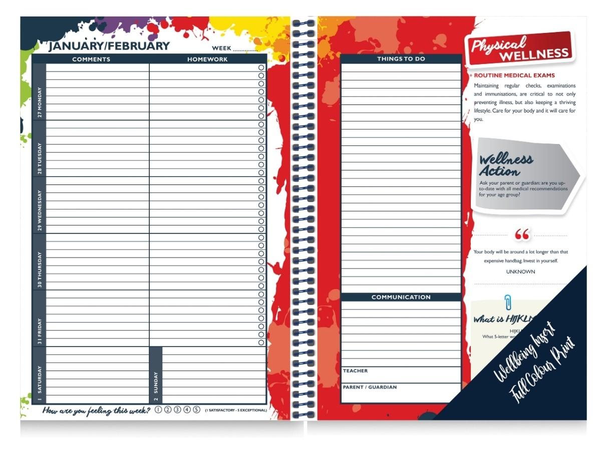 Wellness School Diary Generic