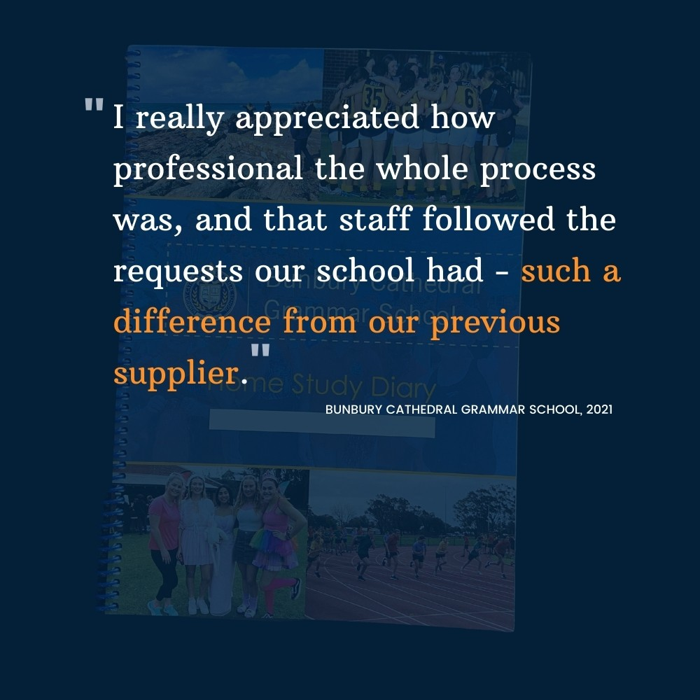Student Diaries Review Bunbury Cathedral Grammar School