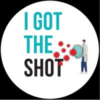 Covid I got the shot sticker