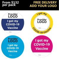 Custom Covid Vaccine Decals with Time Slot