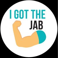 I got the jab sticker Covid