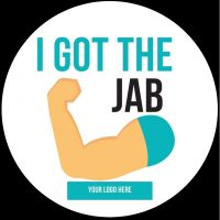 I got the jab sticker Covid Custom