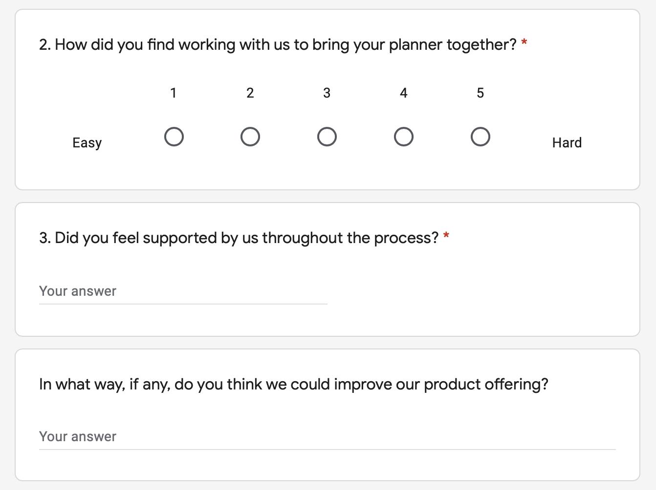 2021 Planner Survey