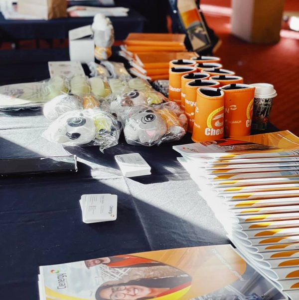 Clenergy Event Table with Brochures and Giveaways