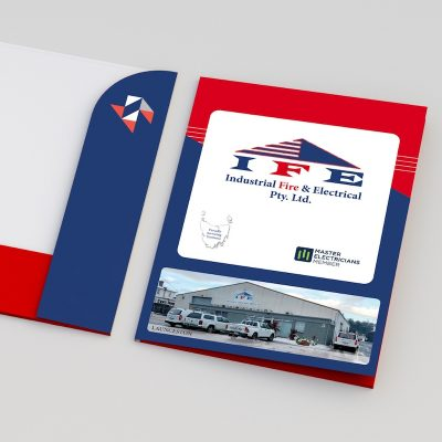 IFE Branded Custom Presentation Folder