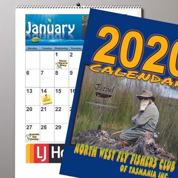 Custom Calendars - Coil Bound Wall Calendars - Fly Fishers Association of Tas