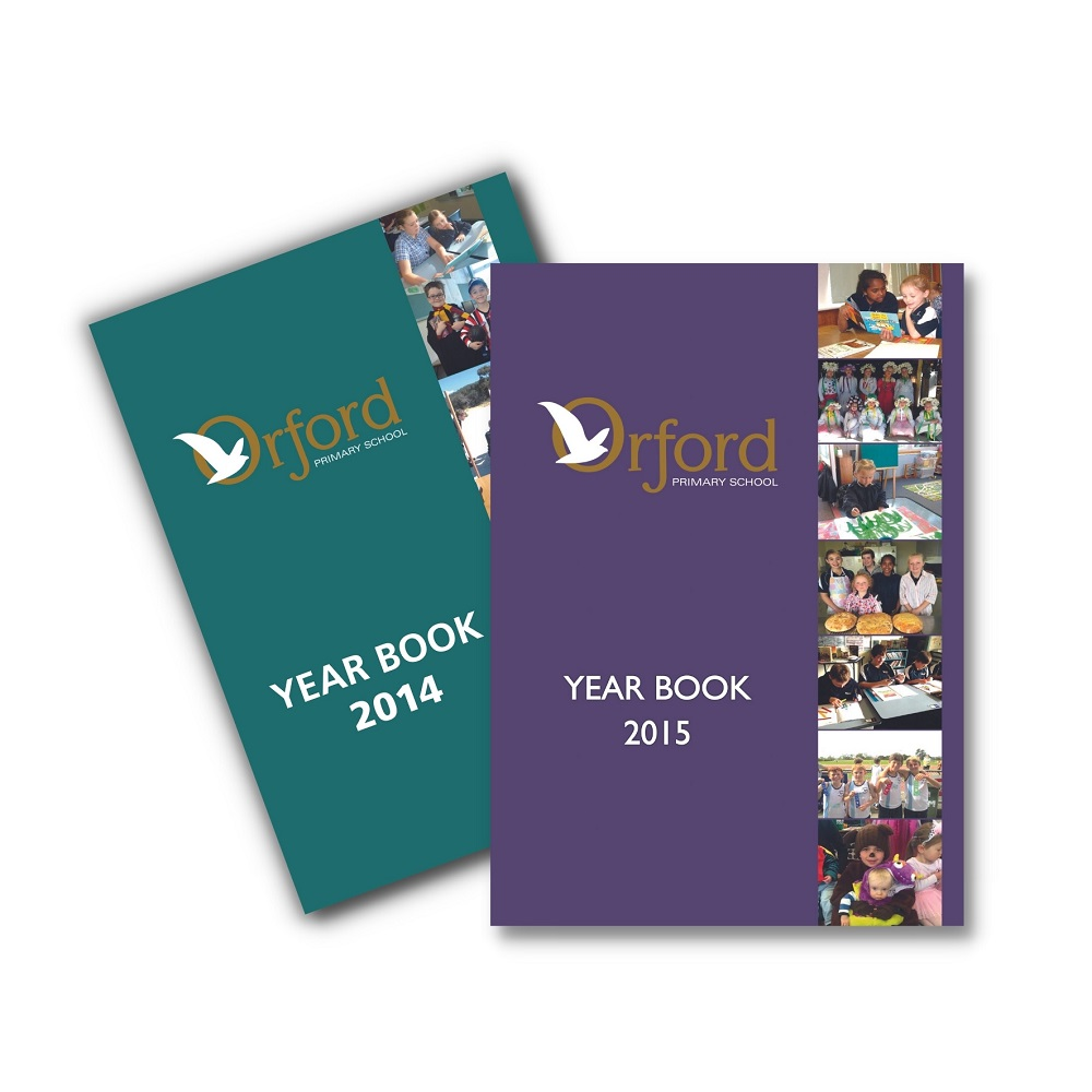 Yearbook Printing for Schools Orford Primary Saddle Stiched