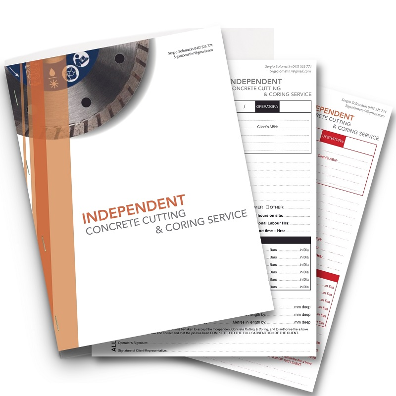 Independant Concrete Cutting and Coring NCR book