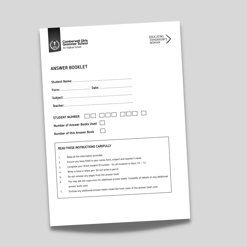 Printed Exam Booklets